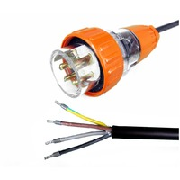 4 Pin 20 Amp 3 Phase Electrical Appliance Lead 2.5m Long