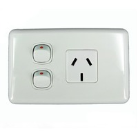 Australec MP1011 Single Power Point with Extra Switch White