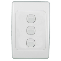 Clipsal 2033VA 3 Gang Light Switch 2000 Series