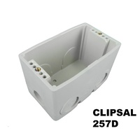 Clipsal 257D Deep Wall Box PVC with Conduit Entries