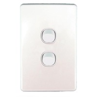 Clipsal SC2032VA Slimline SC Series Two Gang Light Switch