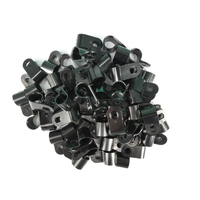 9.5mm Nylon P Clip Black Pack 100