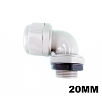 20mm Electrical Corrugated Conduit Angle Adapter Gland Fitting