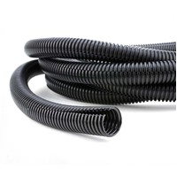 23mm Black Corrugated Split Loom Tube 10m
