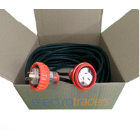15A Power Extension Lead Single Phase 20m Metres with 3 Pin 15 AMP Plug Socket