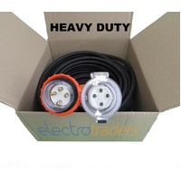 20 Amp Heavy Duty Extension Lead 3 Phase 4 Pin 20A 25m IP66 4.0mm