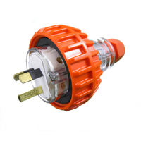 GEN3 10 AMP 3 Pin Flat Industrial Electrical Extension Plug 10A IP66