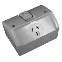 GEN3 Single Weather Protected Power Point Outlet 15A IP53