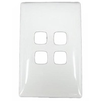 HPM LINEA LN770/4GPLWE 4 Gang Light Switch Grid Plate and Cover 4mm Profile