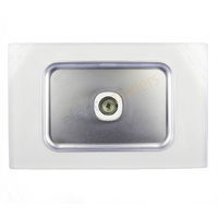 Opal Series TV Wall Plate with Glass-Look Finish