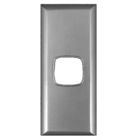 Powerclip 1 Gang ARCHITRAVE Light Switch 10 Amp with Silver Cover