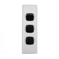 Powerclip 3 Gang ARCHITRAVE Light Switch Extra Low Voltage 12-24V