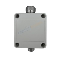2 Way Square Mini Junction Box with 2 Steel Cable Glands