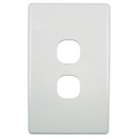 Tesla Standard Series 2 Gang Light Switch Replacement Cover