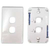 Tesla 2 Gang Light Switch Grid Plate and Cover