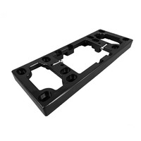 Quad Power Point Mounting Block 25mm Deep in Black