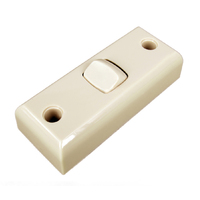 Light Switch 1 Gang ARCHITRAVE Double Pole 10A Deep Mount Beige Transco
