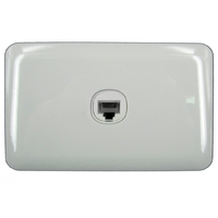 1 Gang wall Plate Wafer Slimline Cat 5e Data Point