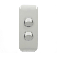 2 Gang ARCHITRAVE Light Switch Wafer Slimline Double Pole Caravan RV